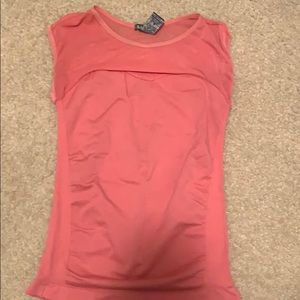 Pink fitted sweetheart lined tank